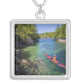 Canada, British Columbia, Vancouver Island. Sea Silver Plated Necklace