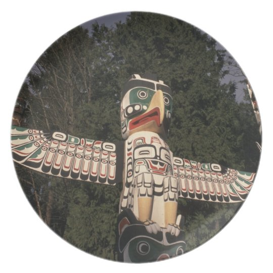Canada, British Columbia, Vancouver.  Native Dinner Plate