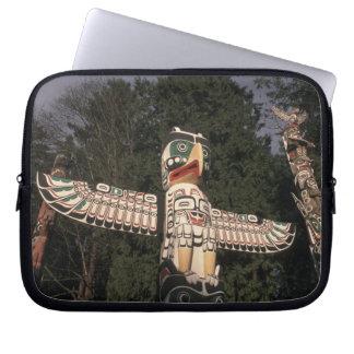 Canada, British Columbia, Vancouver.  Native Laptop Sleeves