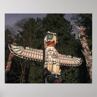 Canada, British Columbia, Vancouver.  Native Poster