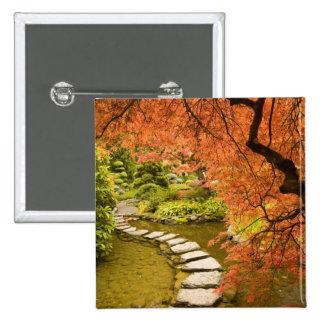 CANADA, British Columbia, Victoria. Autumn 2 Inch Square Button