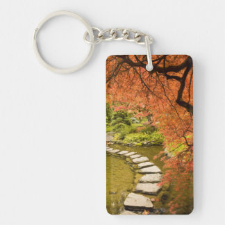 CANADA, British Columbia, Victoria. Autumn Double-Sided Rectangular Acrylic Keychain