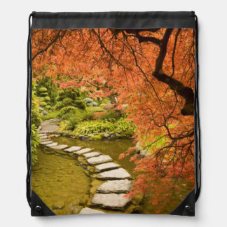 CANADA, British Columbia, Victoria. Autumn Drawstring Backpack