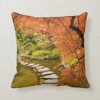 CANADA, British Columbia, Victoria. Autumn Throw Pillow