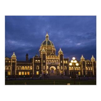 CANADA, British Columbia, Victoria. Evening, Postcard