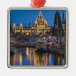 Canada, British Columbia, Victoria, Inner Square Metal Christmas Ornament