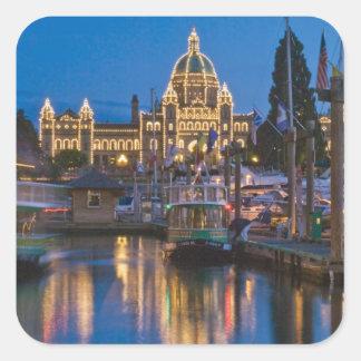 Canada, British Columbia, Victoria, Inner Square Sticker