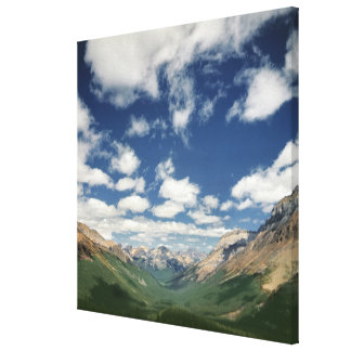 Canada, British Columbia, Yoho NP. Puffy clouds Canvas Print