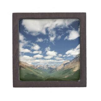 Canada, British Columbia, Yoho NP. Puffy clouds Keepsake Box