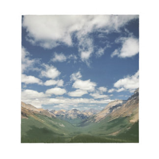 Canada, British Columbia, Yoho NP. Puffy clouds Notepad