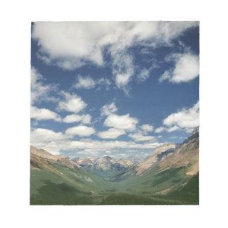 Canada, British Columbia, Yoho NP. Puffy clouds Notepad
