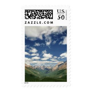 Canada, British Columbia, Yoho NP. Puffy clouds Postage