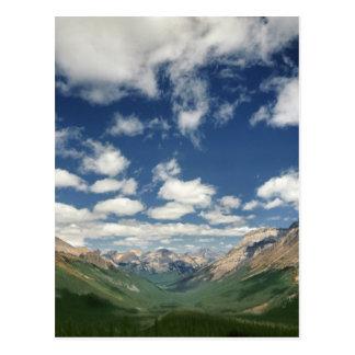 Canada, British Columbia, Yoho NP. Puffy clouds Postcard