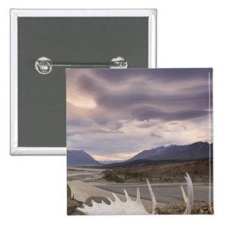 Canada, British Columbia, Yukon Territory, Alsek 2 Inch Square Button