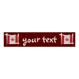 Canada Brush Flag Banner Posters
