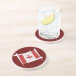Canada Brush Flag Beverage Coaster