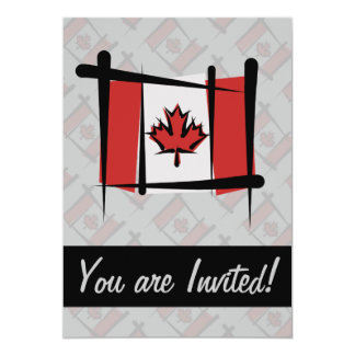 Canada Brush Flag Card