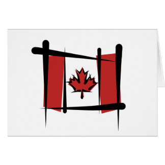 Canada Brush Flag Card