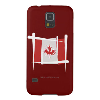 Canada Brush Flag Case For Galaxy S5