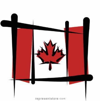 Canada Brush Flag Cutout
