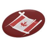 Canada Brush Flag Dinner Plate