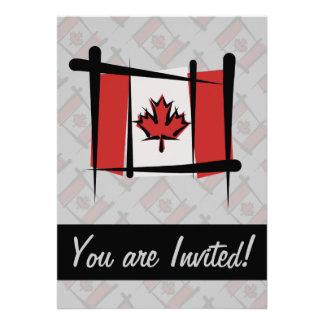 Canada Brush Flag Custom Invitation