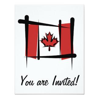 "Canada Brush Flag 4.25"" X 5.5"" Invitation Card"