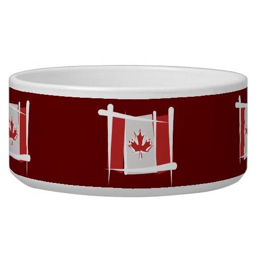 Canada Brush Flag Pet Bowls