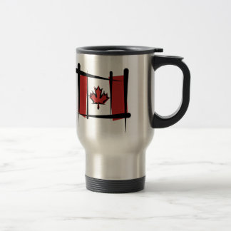 Canada Brush Flag Travel Mug