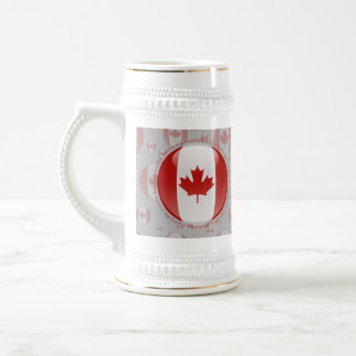 Canada Bubble Flag Beer Stein