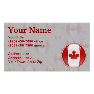 Canada Bubble Flag Business Cards