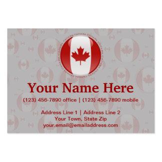 Canada Bubble Flag Business Card Templates
