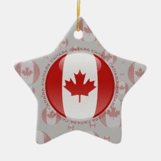 Canada Bubble Flag Ceramic Ornament