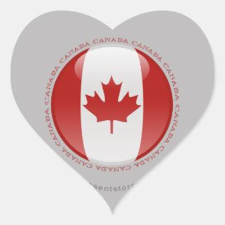 Canada Bubble Flag Heart Sticker