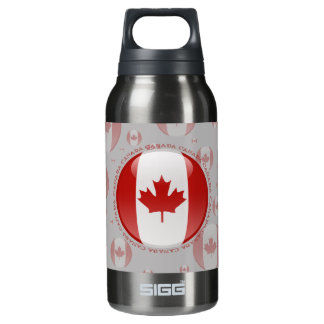 Canada Bubble Flag Insulated Water Bottle