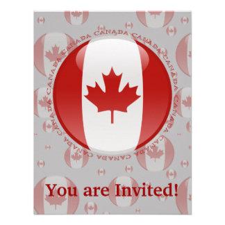 Canada Bubble Flag Custom Announcements