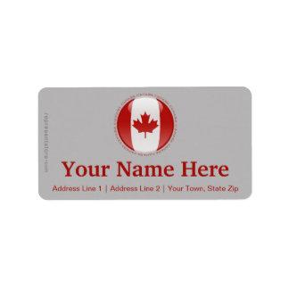 Canada Bubble Flag Label