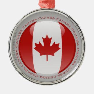 Canada Bubble Flag Metal Ornament