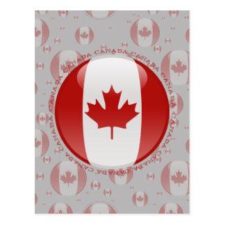 Canada Bubble Flag Postcard