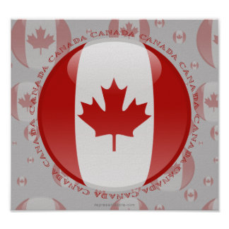 Canada Bubble Flag Poster