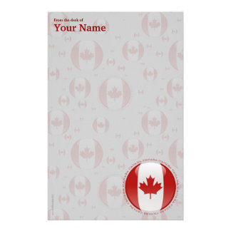 Canada Bubble Flag Stationery