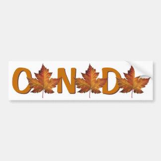 Canada Bumper Sticker Autumn Gold Maple Leaf Car Bumper Sticker