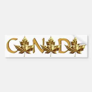 Canada Bumper Sticker Gold Maple Leaf Sticker Car Bumper Sticker