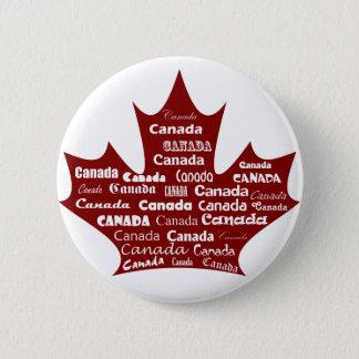Canada Button Red