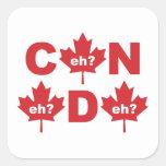 Canadá Calcomania Cuadradas