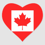 Canadá Calcomanías Corazones Personalizadas