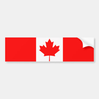 Canada - Canadian Flag Car Bumper Sticker
