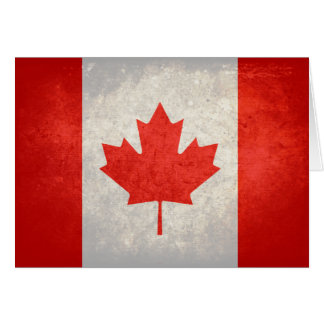 Canada; Canadian Flag Card