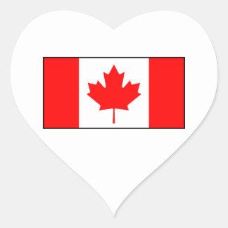 Canada - Canadian Flag Heart Sticker