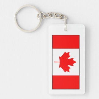 Canada - Canadian Flag Rectangle Acrylic Keychains